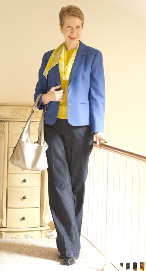 Crystal blue blazer