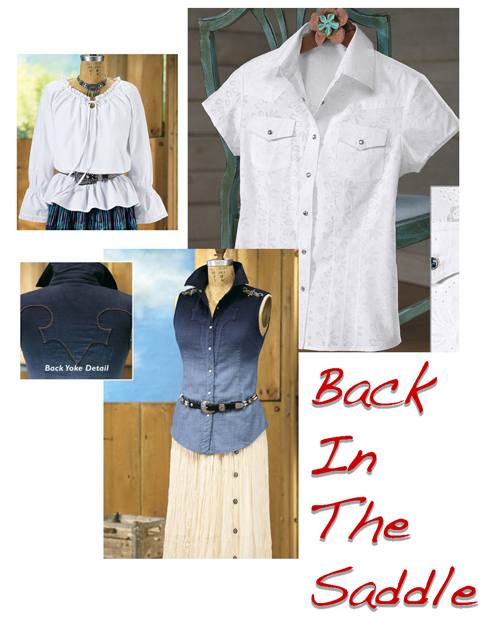 Option 3 White Western Shirts collage