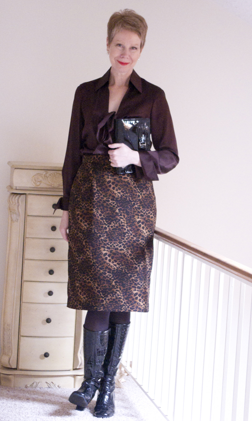 leopard print with bow