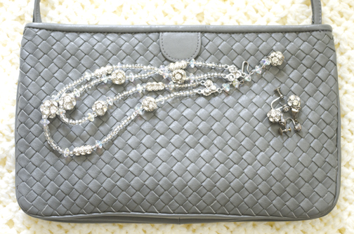 Gray Purse and rhinestones