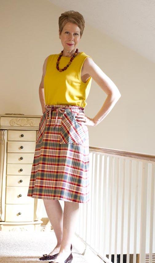Plaid summer skirt