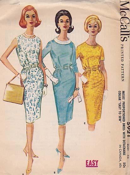 1960s mccalls pattern