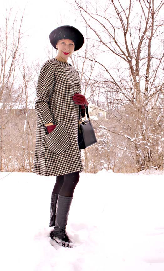 houndstooth check coat copy