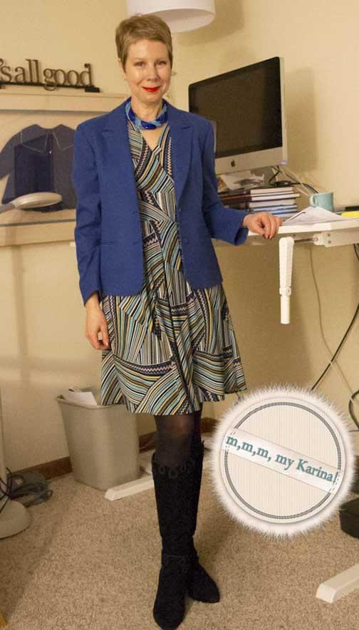 Blue geo mmmmy Karina