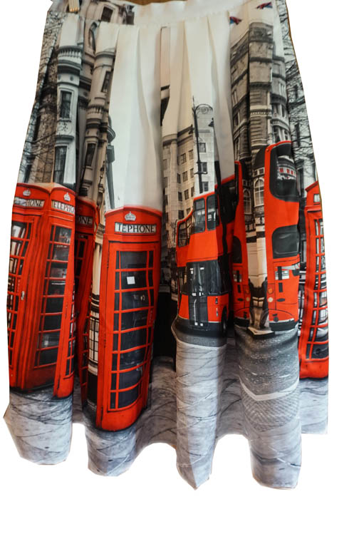 London phone booth skirt