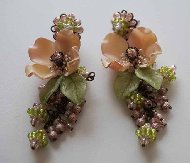 Pink Dogwood Earrings