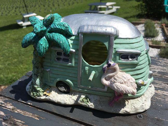Fairy garden camper