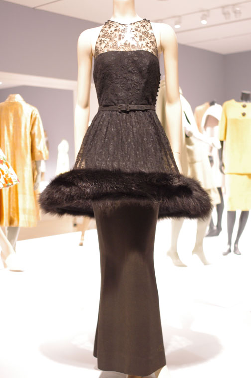 Norman Norell French-inspired evening gown